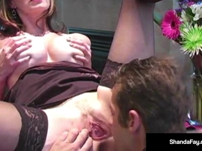 Hot Housewife Shanda Fay Spills Creamy Pussy Cum On Hubby!