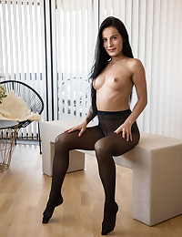 Do you love pantyhose? Do you love feet? Then this video is for you, especially if you love girls masturbating with big black dildos while wearing pantyhose and playing with their feet. Lexi starts this lovely fetish video off by stroking her feet, deliciously garbed in black nylons. She then moves on to her pussy, and gives it a wonderful rubbing through her hosiery. Finally, Lexi can't stand it anymore, so she drops her nylons to her knees and gets to work with her big black toy. It doesn't get any hotter or more intimate than this. Lexi is a truly genuine young lady, sharing her deepest passions with us, holding nothing back. Come on over to Lexi's house. She's got your favorite outfit on!
