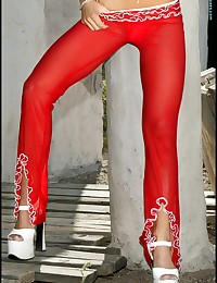 Tight Red Pants