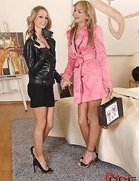 Hot Blonde Lesbian Babes Enjoy Their Sex Toy Shopping Spree