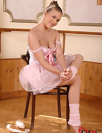 Ballerina Rebecca Contreras Plays With Her Very Pink Pussy