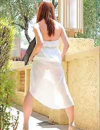 her very first shoot in the adult business we spot her at a upscale