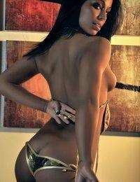 Brianna sexy camo bikini