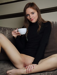 Cathleen A enjoys a cup of tea then plays with her lady parts