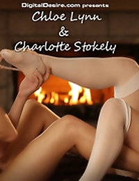Chloe Lynn & Charlotte Stokely keep each other warm
