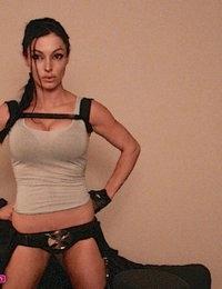 Angelina Stevens as Lara Croft