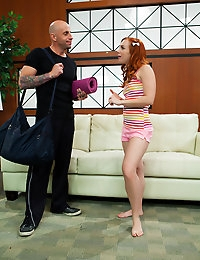 Dani Jensen finds herself in the best position when her yoga instructor Barry Scott shows her a few new moves.
