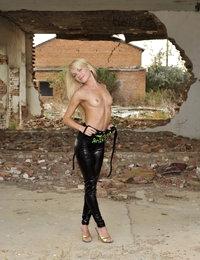Eroberlin Helen F skinny russian shiny leggings teen