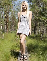 Nubiles.net Olivia Devine - Petite blonde amateur fucks her mans stiff cock in the woods