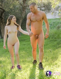 Sweet lost teen camper found by hot stud