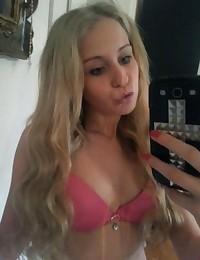 Skanky blonde chick