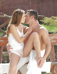 Sexy Sophie Lynx gives her man a long raunchy cock licking and then an even longer pussy ride deep in her creamy twat