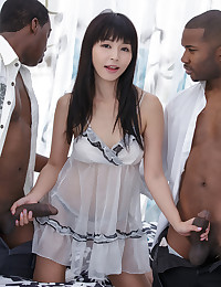 Jack and Tee were given one bit of advice going into this ultra-erotic shoot with our Asian goddess Marica - to fill her up! And they did just that (while being gentlemen and making sure to give her maximum pleasure in the process). This was her first DP and won't be her last. She actually insisted next time she have a third cock...to fill her mouth of course ;-)