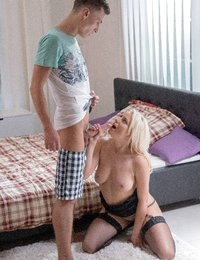There's no way Lucy Shine could have a one-on-one session with Charlie Dean and not have things turn sexual. Watch this scene to see how she held out as long as she did before pouncing on him for a passionate fuck.